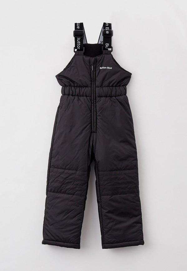 утепленные брюки button blue для девочки, черные
