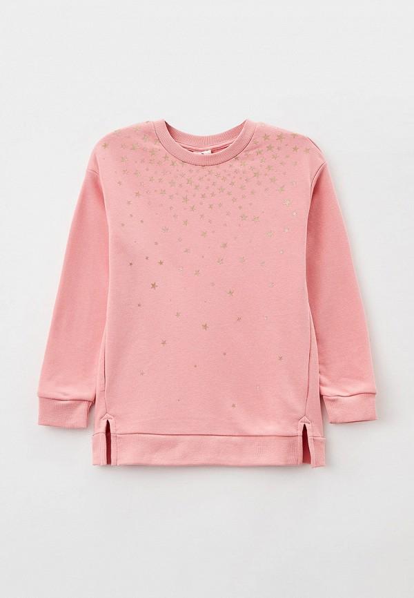 свитшот button blue для девочки, розовый