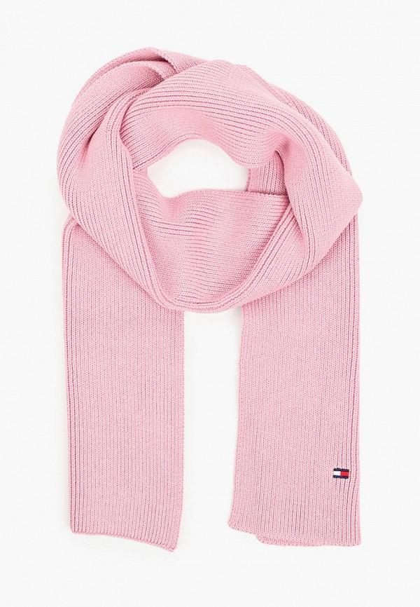 шарф tommy hilfiger для девочки, розовый