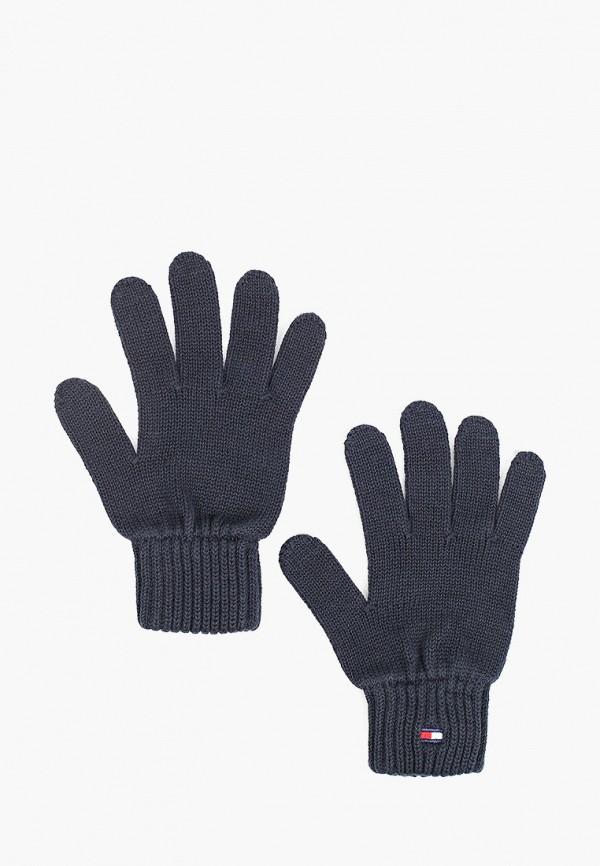 Перчатки Tommy Hilfiger синего цвета