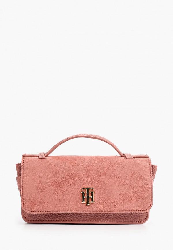 женская поясные сумка tommy hilfiger, розовая