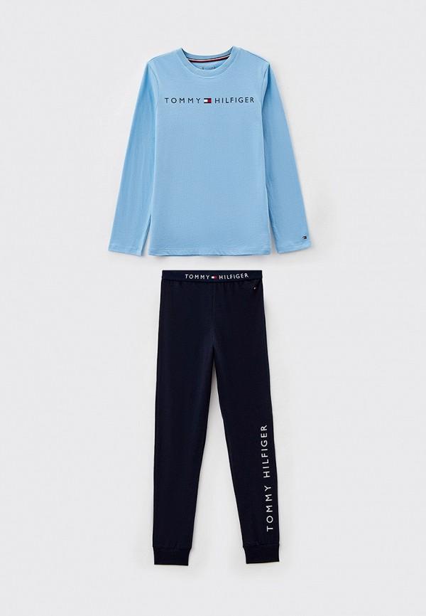 пижама tommy hilfiger для мальчика, разноцветная