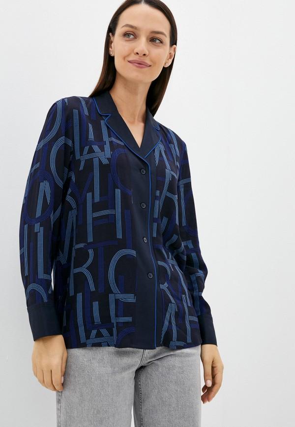 женская блузка с длинным рукавом tommy hilfiger, черная