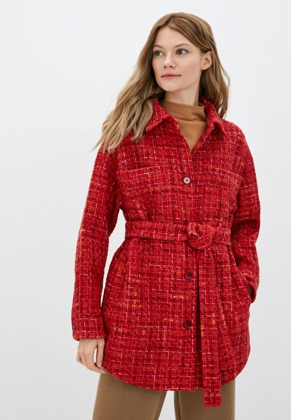 женское пальто shartrez, красное