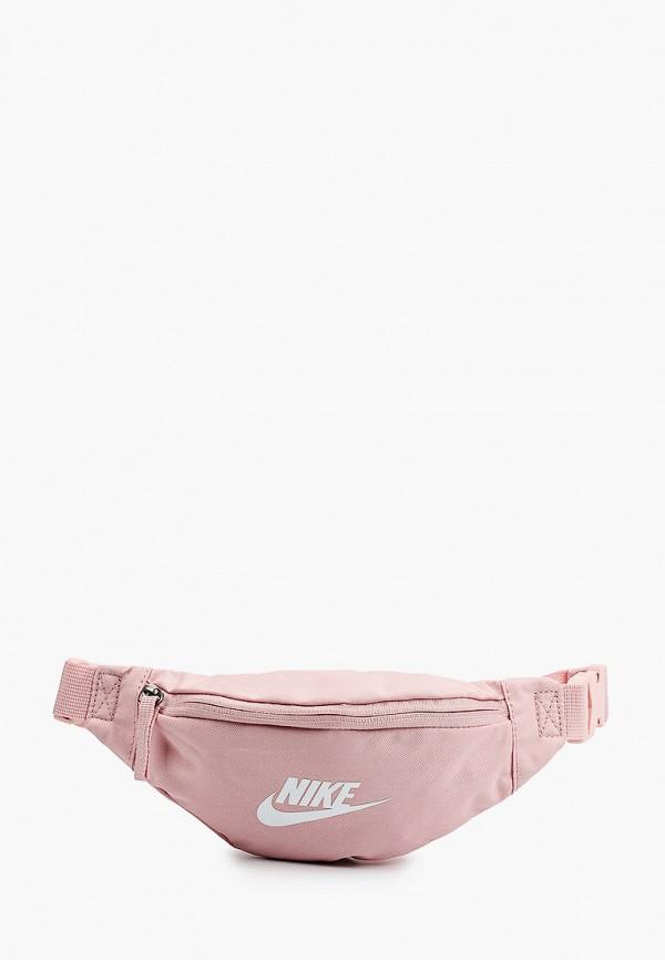 женская поясные сумка nike, розовая