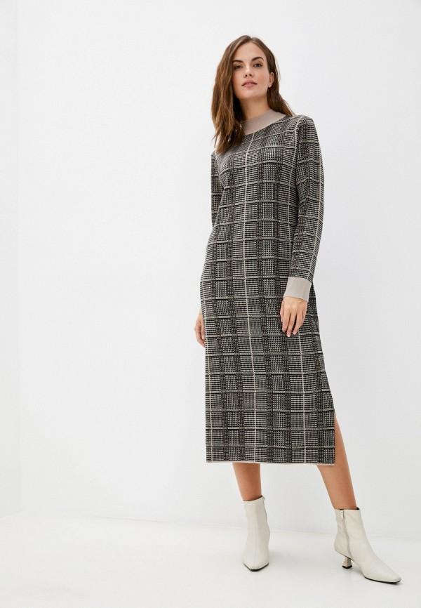 женское платье unq, коричневое