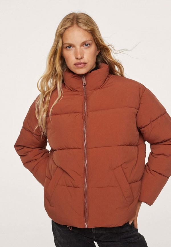 женская утепленные куртка mango, красная
