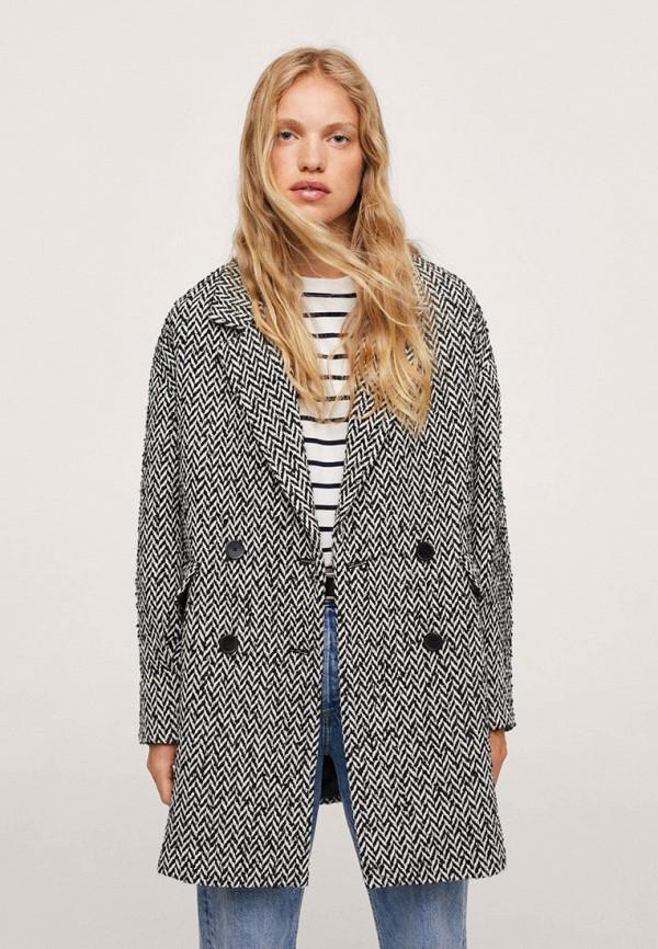 женское пальто mango, серое