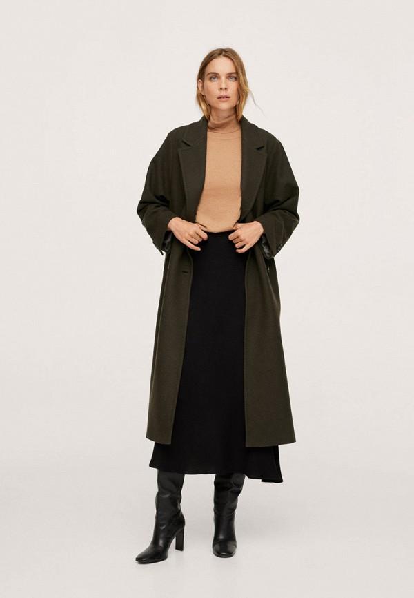 женское пальто mango, хаки
