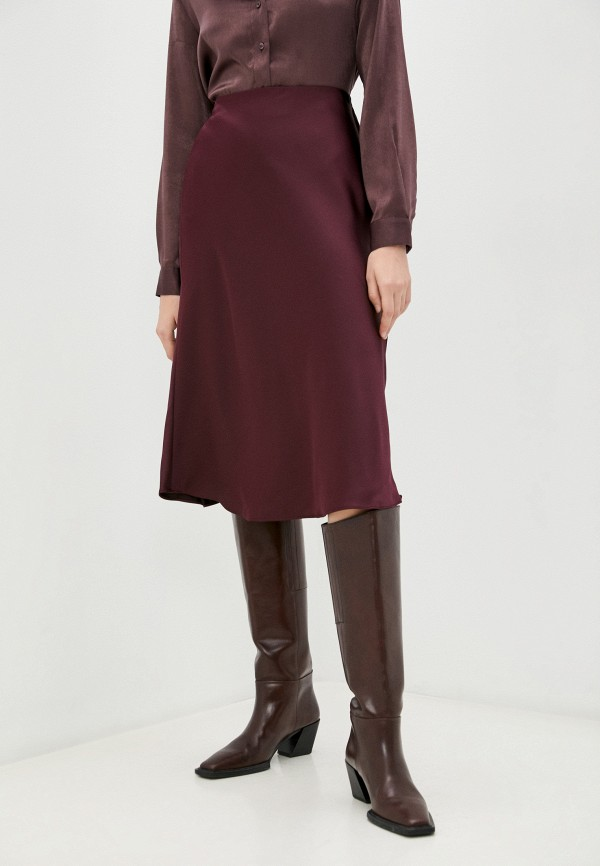 женская прямые юбка lauren ralph lauren, бордовая