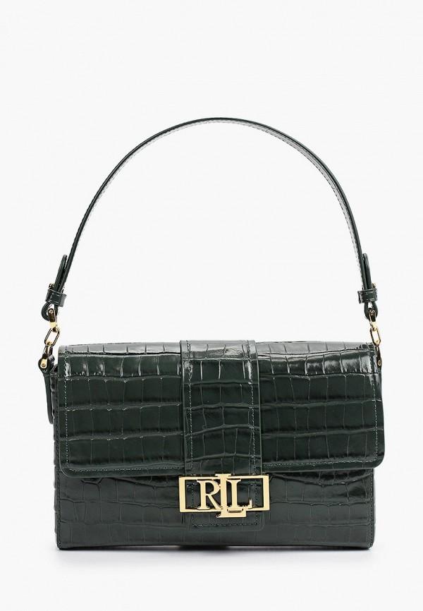 женская сумка с ручками lauren ralph lauren, зеленая