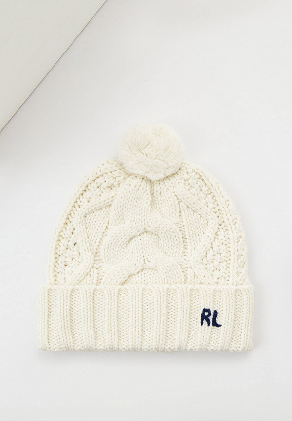 женская шапка polo ralph lauren, белая