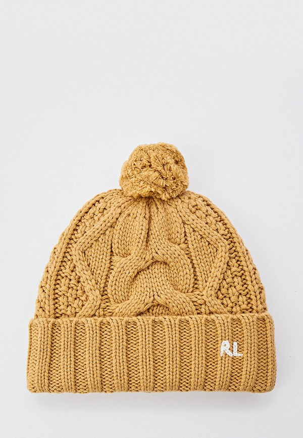 женская шапка polo ralph lauren, коричневая