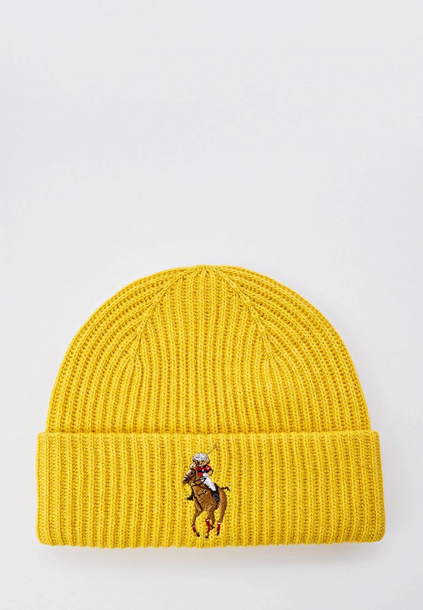 женская шапка polo ralph lauren, желтая