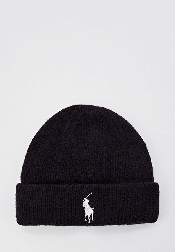 женская шапка polo ralph lauren, черная