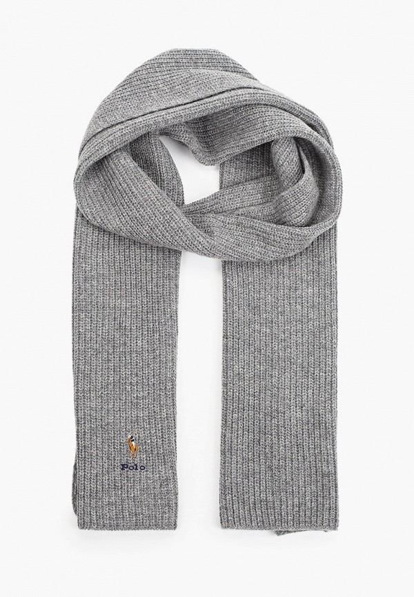 женский шарф polo ralph lauren, серый