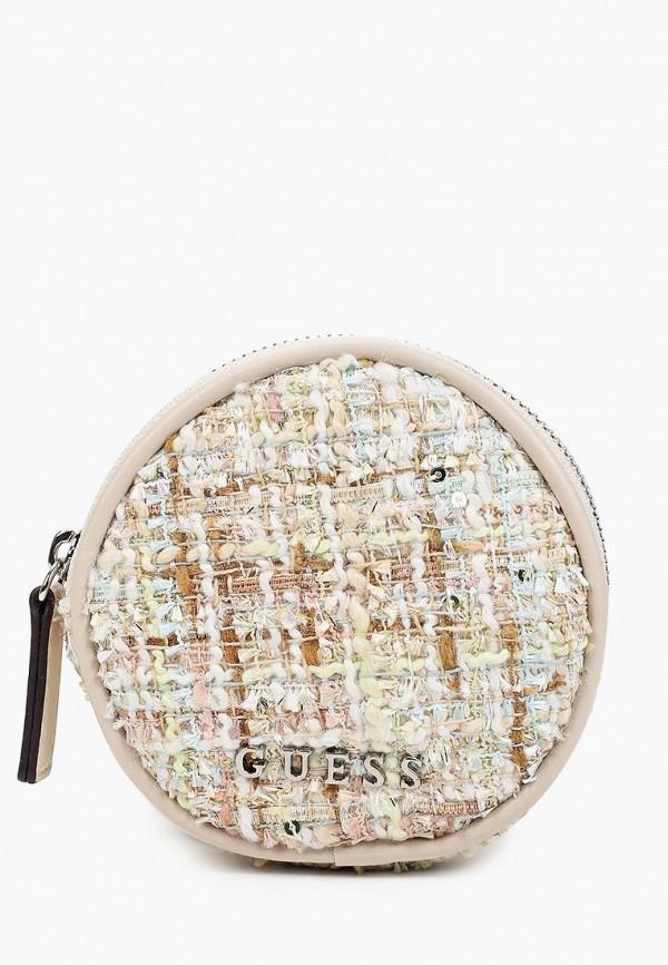 женская сумка через плечо guess, бежевая