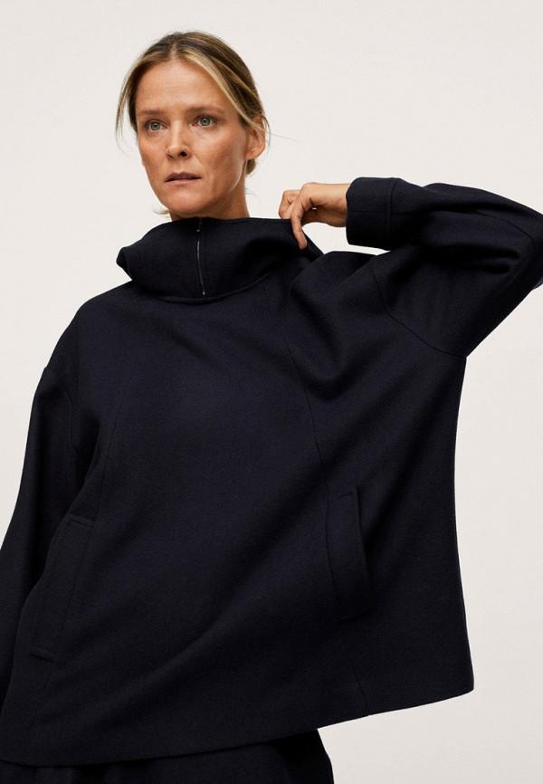женская куртка mango, синяя