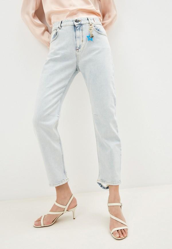женские джинсы бойфренд twinset milano, голубые