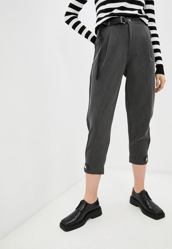 женские классические брюки bad queen, серые