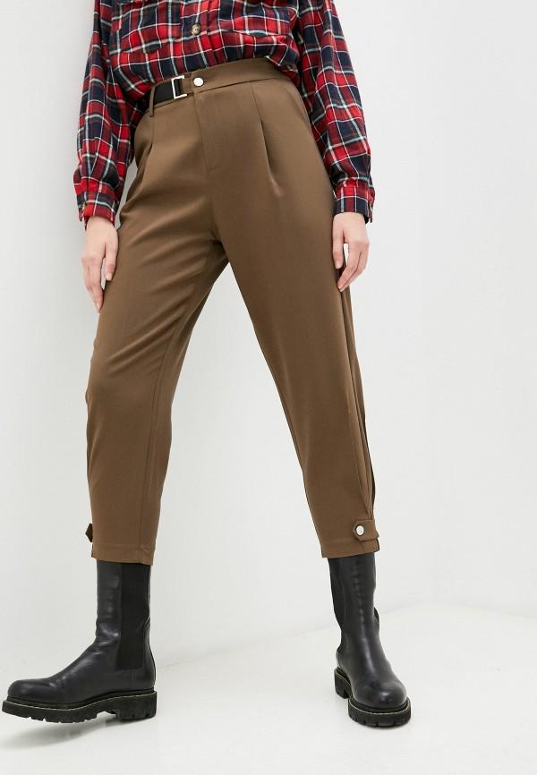 женские повседневные брюки bad queen, коричневые