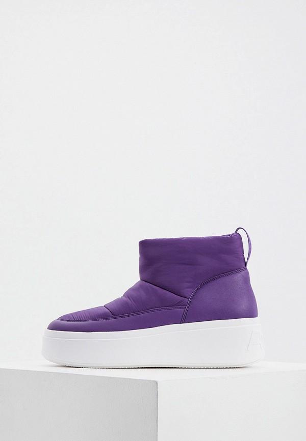 женские высокие ботинки ash, фиолетовые