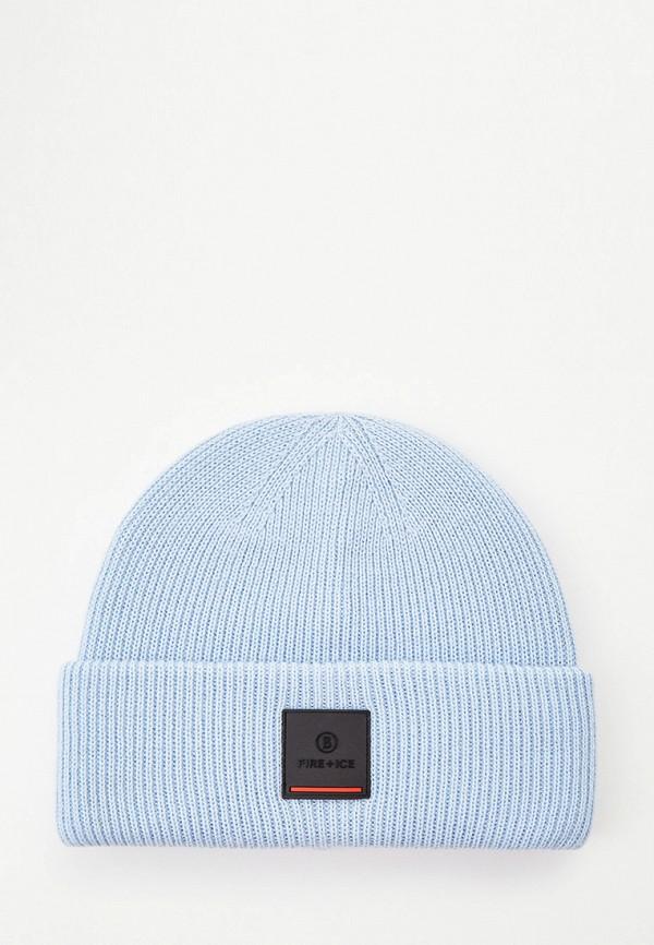 женская шапка bogner, голубая