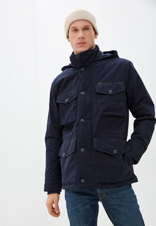 мужская утепленные куртка lee, синяя