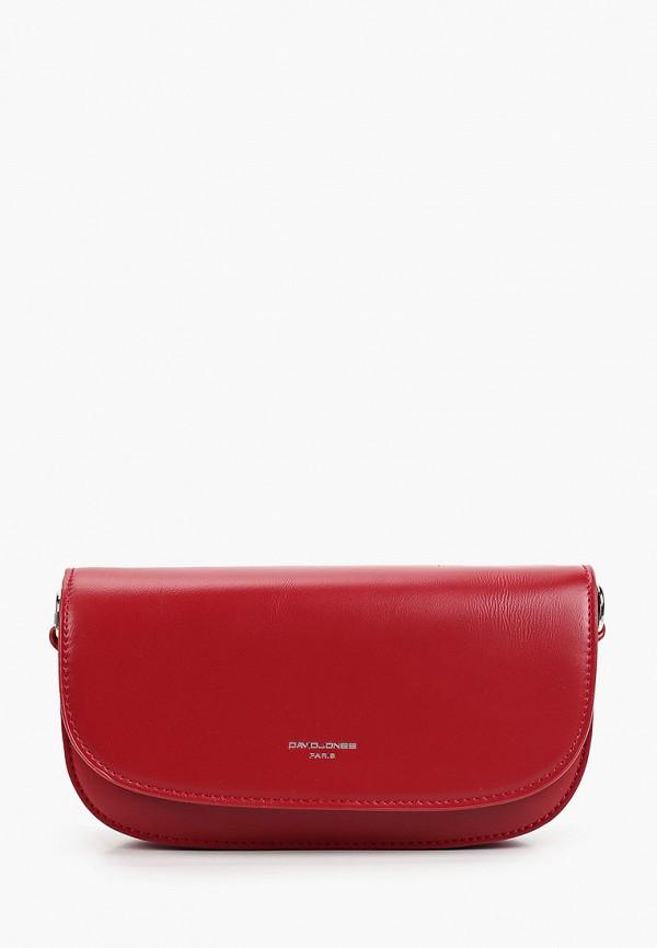женская сумка через плечо david jones, красная