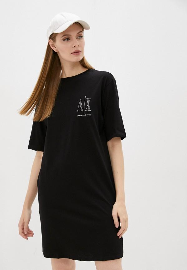 женское платье armani exchange, черное
