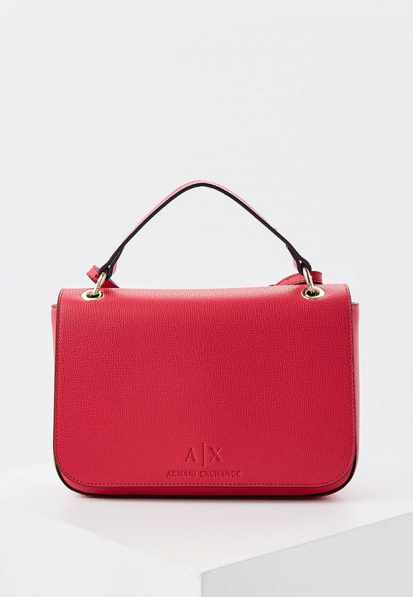женская сумка armani exchange, розовая