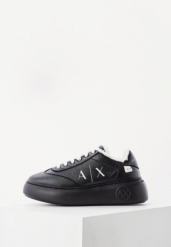 женские кроссовки armani exchange, черные