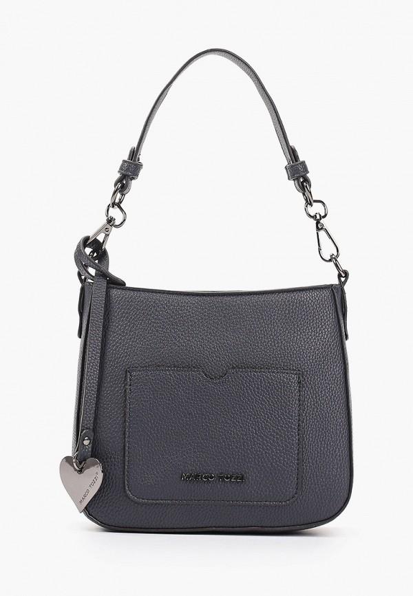 женская сумка с ручками marco tozzi, синяя
