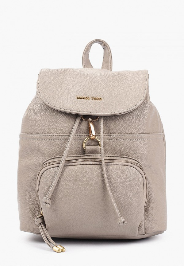 женский рюкзак marco tozzi, бежевый