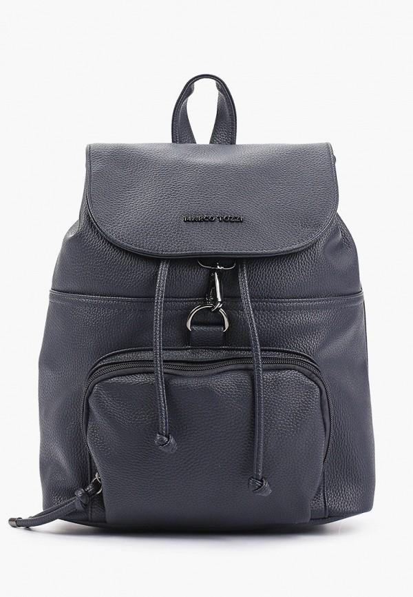 женский рюкзак marco tozzi, синий