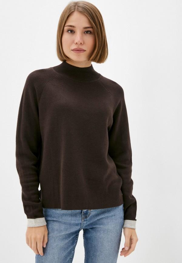 женская водолазка s.oliver, коричневая
