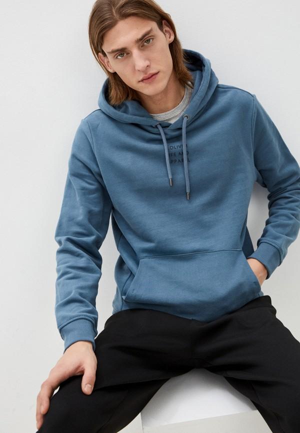 мужские худи s.oliver, голубые
