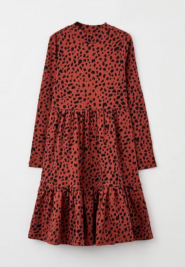 повседневные платье s.oliver для девочки, коричневое
