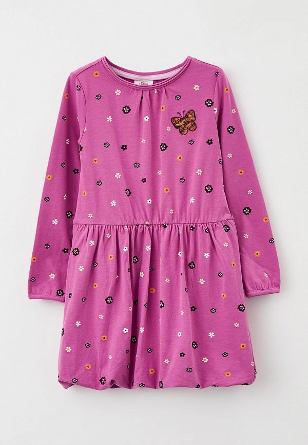 повседневные платье s.oliver для девочки, фиолетовое