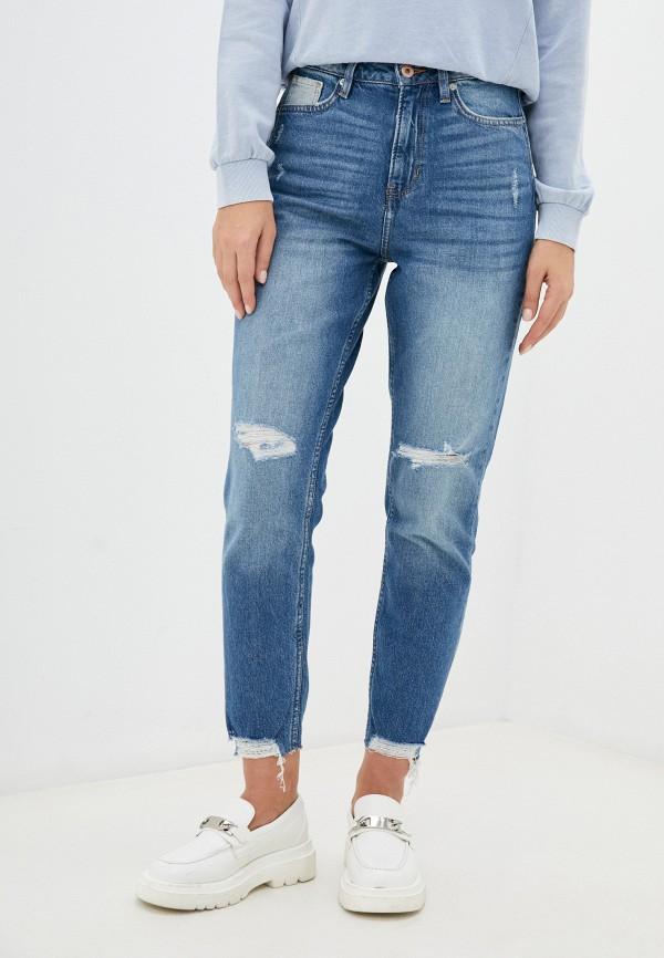 женские джинсы-мом q/s designed by, синие