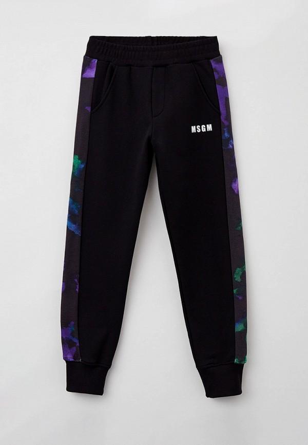 спортивные брюки msgm kids для мальчика, черные
