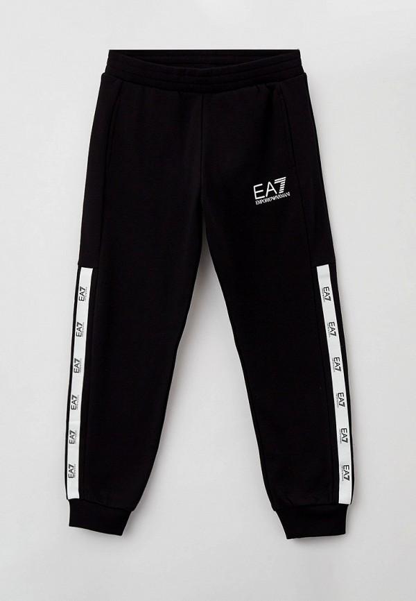 спортивные брюки ea7 для мальчика, черные