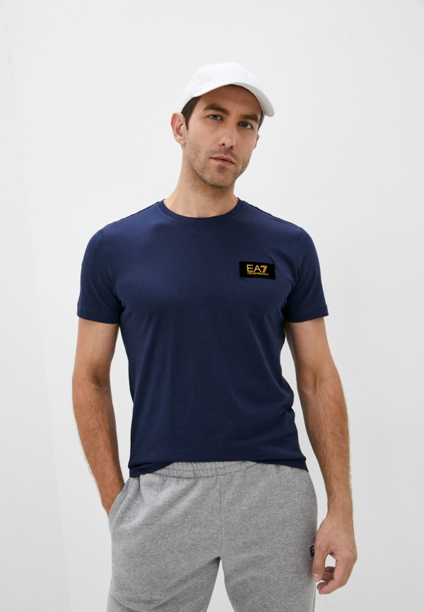 мужская спортивные футболка ea7, синяя