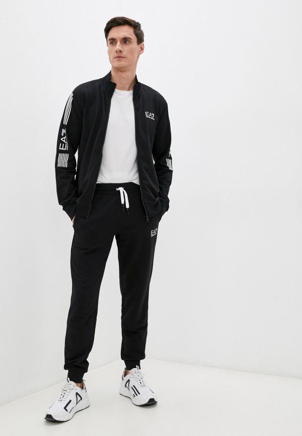 мужской спортивный костюм ea7, черный