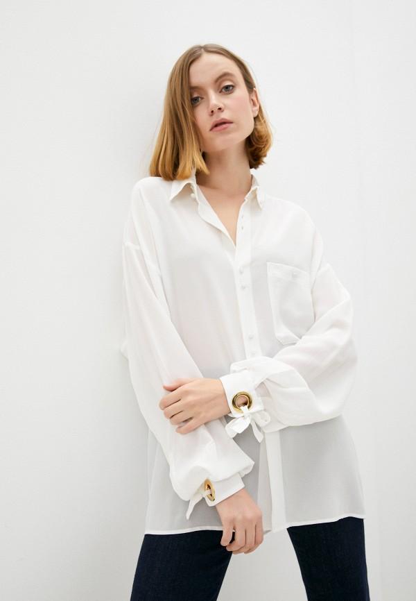 женская блузка с длинным рукавом l'autre chose, белая