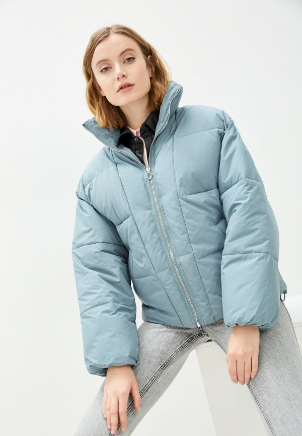 женская утепленные куртка pimkie, голубая