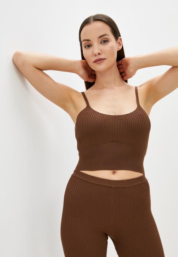 женский топ pimkie, коричневый