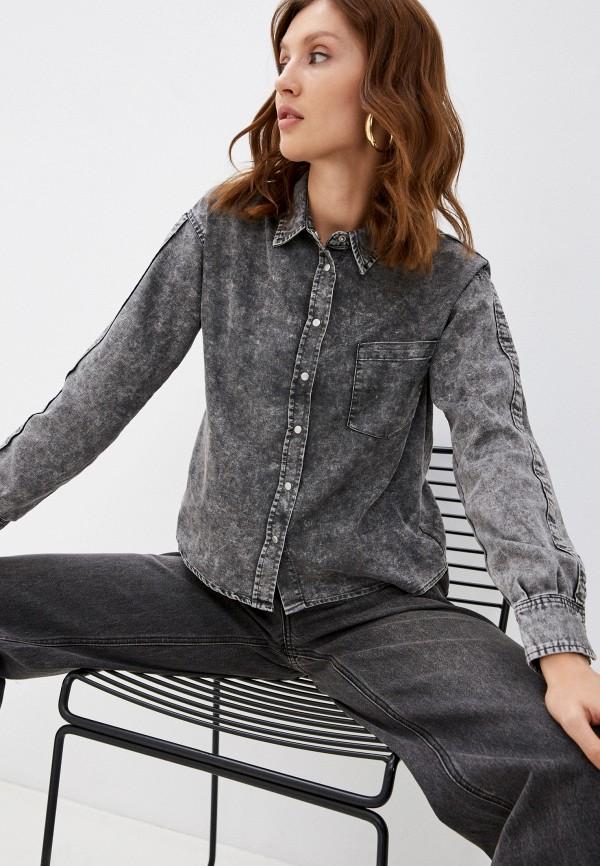 женская джинсовые рубашка pimkie, серая