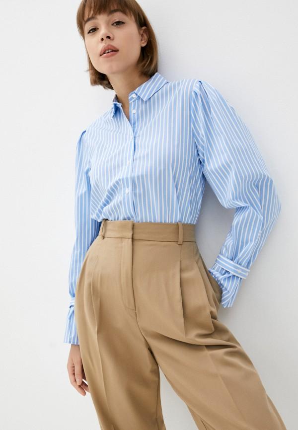 женская рубашка с длинным рукавом pimkie, голубая