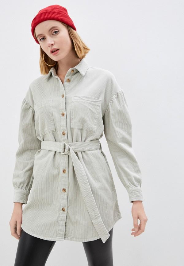 женская рубашка с длинным рукавом pimkie, серая